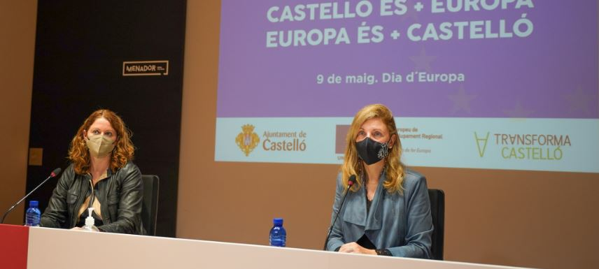Castellón visibiliza en el Día de Europa su transformación.